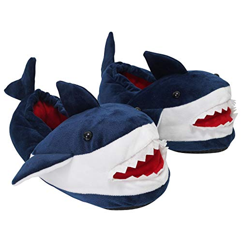 Mens, Ladies & Kids Novelty 3D Shark Design Fullback Slippers - Mini Me Matching Slippers for Daddy, Mummy & Kids