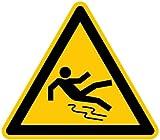 LEMAX® Schild Alu Warnung vor Rutschgefahr D-W028 SL 200mm