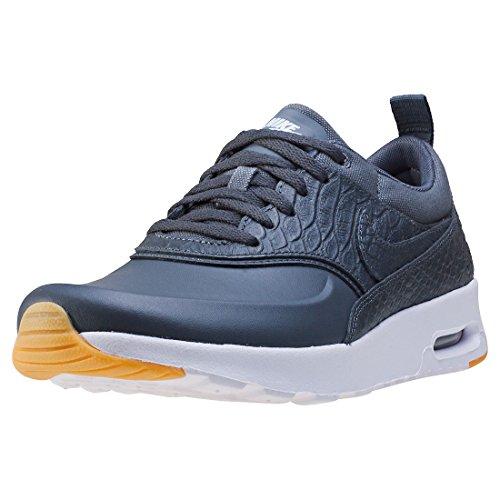 Nike Air Max Thea Premium Sneaker Scarpe per donna, Dunkelgrau (Dark Grey/Gum Yellow/White), 38 Dunkelgrau (Dark Grey/Gum Yellow/White)