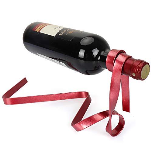 yobansa® Magic Seil Floating Weinregal Metall Weinflaschenhalter Wein klappbar Ständer für Bars, Home Dekoration rot