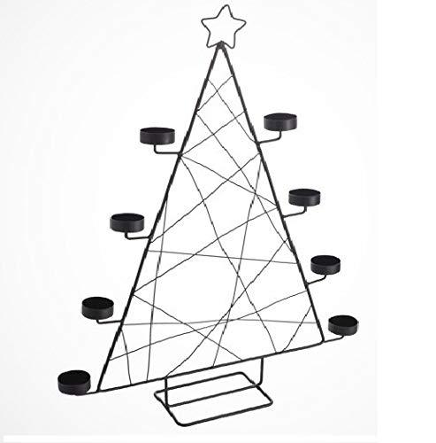 FJTHY Metall Eisen Kunst Hohl Weihnachtsbaum Kerzenhalter Teelichthalter, Ideal Für Inneneinrichtungen, Restaurant Dekor Und Geschenk,Als Zeigen,Einheitsgröße