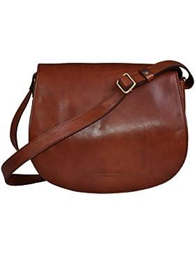 Chellini Firenze Damentasche, Italienische echt Leder, Umhängetasche, Luxus Satteltasche, Leder Handtasche, Saddle...