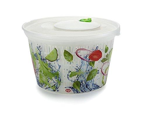 Snips Ulaop Essoreuse à salade Plastique Transparent/blanc/vert/rouge