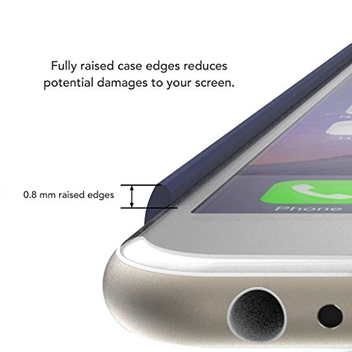 5.5 iPhone 7 Plus SGSELLER TPU Slim Fit Ultra Dünn Stoßfest Anti-Kratz Anti-Fingerabdruck Matt Schutzhülle Gehäuse, Plastik, Marmor (Weiß) Marble (Black Sea)