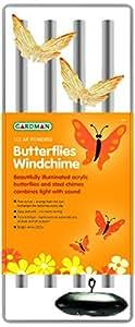 Gardman Solar Butterflies Windchime