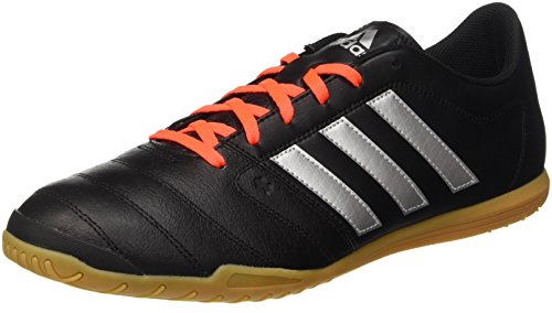 adidas Gloro 16.2 In, Entraînement de football homme Noir (Core Black/Silver Metallic/Solar Red)