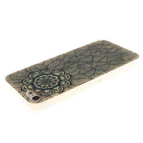 Nancen Apple iphone 5 / 5S (4,0 Zoll) Ultral Slim Weich TPU Silikon Case / Hülle / Handyhülle Backcover. Anti-Kratz und Anti-Staub. Blatt Blume