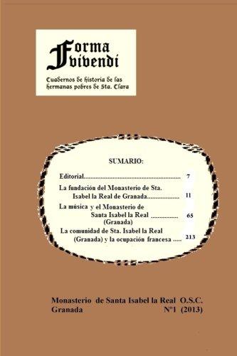 Forma Vivendi: Cuadernos de Historia de las Hermanas Pobres de Santa Clara
