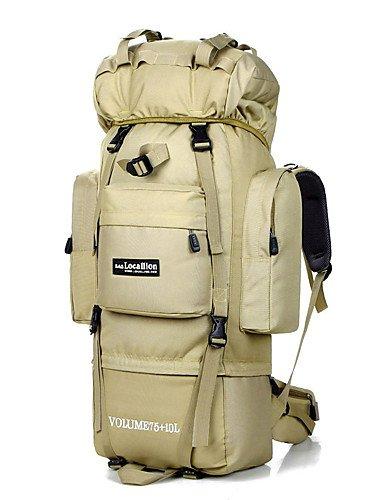 HWB/ 75L L Rucksack Camping & Wandern / Reisen Draußen Wasserdicht andere Nylon N/A Black