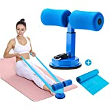 Surplex Bärbara situp-stång hjälptillbehör, multifunktionsjusterbara situps enhetsassistent med yoga elastiskt band, för hemf