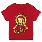 Sprüche Baby - Ich Spiele die Hauptrolle - 80-86 (18 Monate) - Rot - E110B - Kurzarm Baby-Shirt für Jungen und Mädchen in verschiedenen Farben
