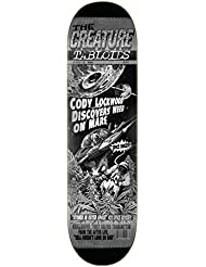 e7222528892 Creature Deck De Skateboard Lockwood Tabloid - 8.2 inch Noir Blanc  (Default