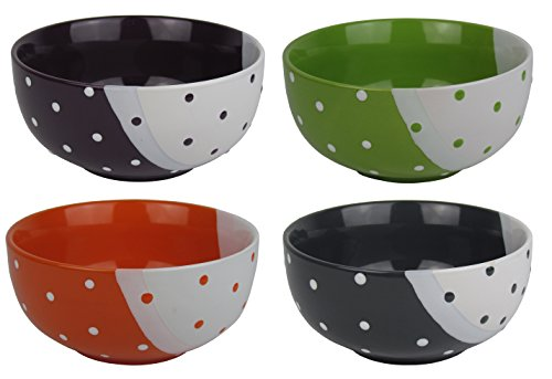 eiliges Müslischalen Set - farbiges Set Müsli Schüsseln/Schalen aus hochwertigem Steinzeug ()