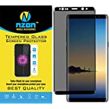 nzon™ Galaxy Note 8 Privacy Screen Protector, Note 8 [3D Curved][Case Friendly][Anti-Scratch] 9H Hardness Tempered Glass Film Screen Protector for Samsung Galaxy Note 8 (Black)