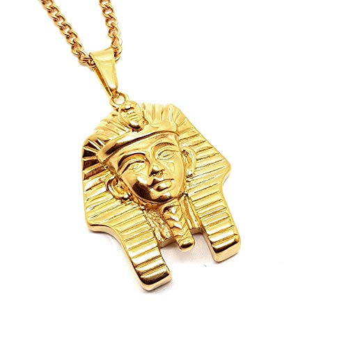 17756d7d07cc BOBIJOO Jewelry - Colgante Cabeza de Faraón de Egipto Antiguo de Acero de  Oro
