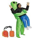 155-190 cm traje inflable trajes inflables Halloween parodia traje inflable fantasma hombre fantasma inflable disfraces espectáculo divertido atuendos trajes fiesta festival parque para adultos tamaño