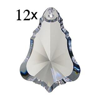 12x Regenbogenkristall Lugano 50mm Crystal 30%PbO ~ Kronleuchter Lüster Candelaber