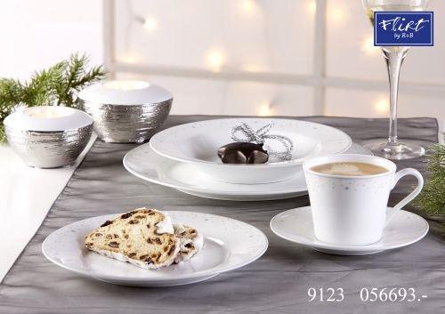 Flirt by R&B Weihnachtsgeschirr Glitter Material Kaffeeservice 18 tlg. Glitter