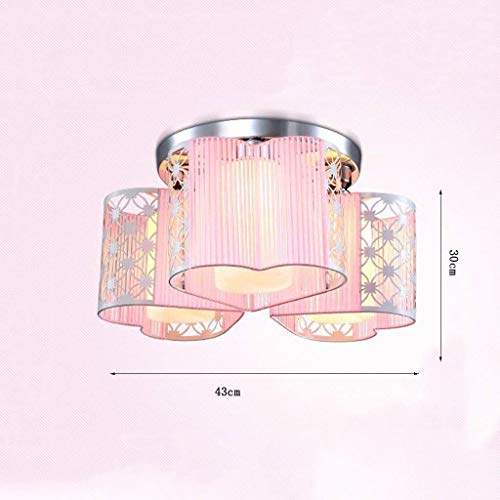 GCCI Led Taschenlampe Decke, Lampe Haus Beleuchtung rund Aufenthalt kreatives Herz - Hochzeitszimmer in Form,3 Köpfe