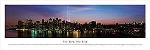 New York WTC Lights 13.5x40 Panoramic Photo