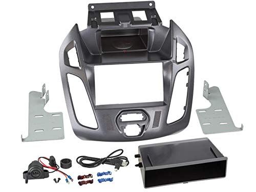 Kit Facade autoradio 2DIN pour Ford Transit Connect ap13 Avec vide poche Inbay Pegasus - ADNAuto