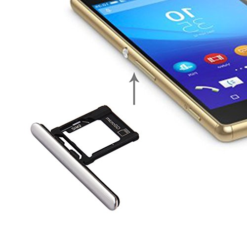 Preisvergleich Produktbild Handy-Ersatzteile iPartsBuy für Sony Xperia XZ Premium (Dual-SIM-Version) Micro SD / SIM-Kartenfach + Card Slot Port Staubstecker Ersatzteile ( Großauswahl : For xperia xz premium dual sim silver )