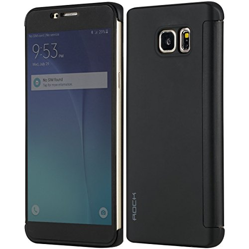 Rock Dr V Smart Ultra Slim Flip Cover Protective Case for Samsung Galaxy Note 5 N920 (Black)  available at amazon for Rs.525