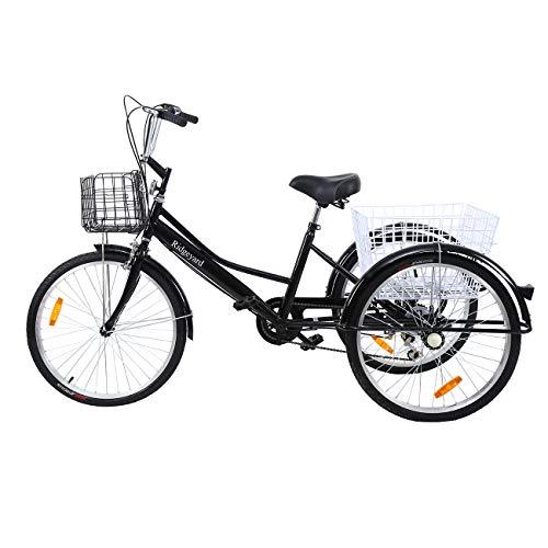 Ridgeyar - Bicicleta de tres rueda de 24 pulgadas