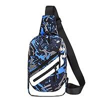 Besrina Sling Bag Chest Bag, Fashion Casual Shoulder Backpack Crossbody Bags Lightweight Cycling Daypacks for Men Women Travel Outdoors Sport Hiking (Blue)