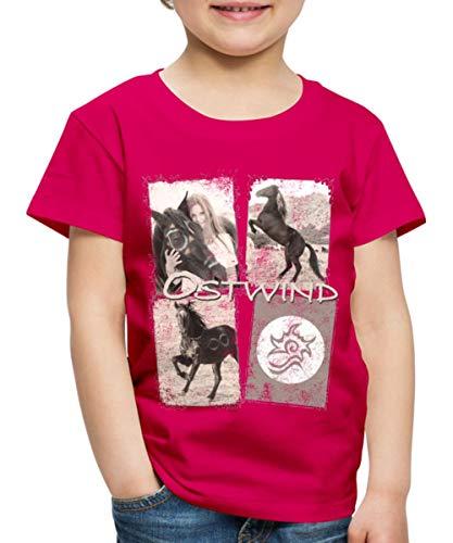 Spreadshirt OSTWIND Aufbruch Nach Ora Collage Kinder Premium T-Shirt, 122/128 (6 Jahre), Dunkles Pink (Für Mädchen T-shirt Einheitliche)