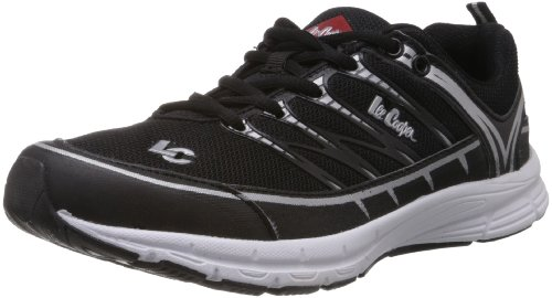 Lee Cooper Men's Black and Silver Mesh Running Shoes  - 6 UK  available at amazon for Rs.1139