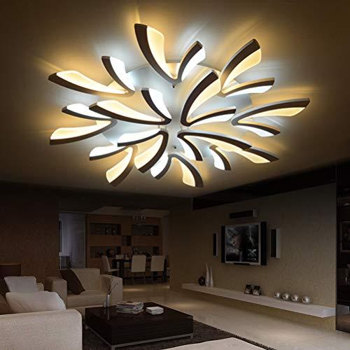 Weißes Ambiente Ist Die Kunst (YANGSANJIN LED Deckenleuchte mit Fernbedienung Lichtfarbe/Helligkeit einstellbar Acryl-Schirm weiß lackierte Geeignet für Wohnzimmer, Schlafzimmer, Flure, 8+4)