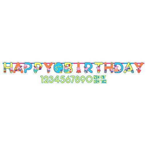 (Amscan Peppa Pig Add-an-Age Birthday Party Banner - 1 Piece)