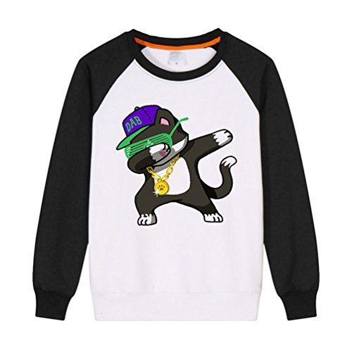 WanYang Unisex Colourful Stampato Pullover Maniche Lunghe Patterned Felpe Tops Jumper Cappuccio