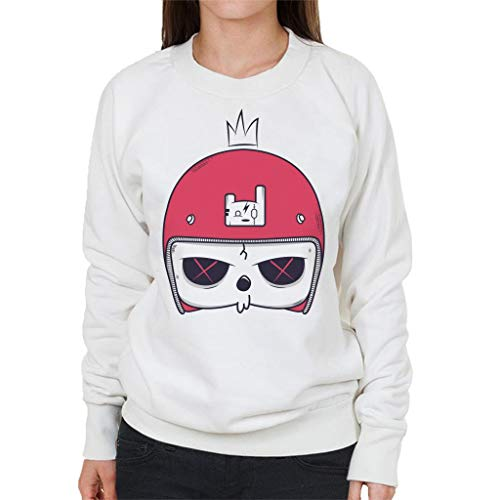 Cartoon Skull Helmet Women's Sweatshirt