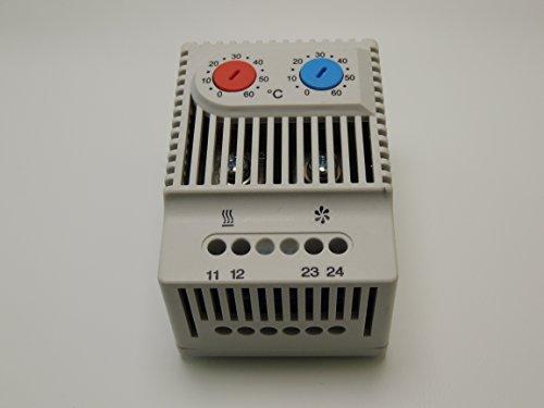 Schaltschrank Fan Controller mit Thermostat Regelung Steuerung (Umschaltung Heizen-Kühlen) JWT 6012 Fancontroller Drehzahlregeler