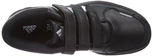 adidas Lk Trainer 6 Cf K, Baskets mode mixte enfant Noir (Noiess/Blaess/Argmet)