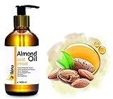 Oïléna Huile vegetale d'Amande Douce 1 litre 1000 ml 100% naturelle, Huile de massage Visage et...