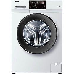 Haier HW80-12829 Freestanding Front-load 8kg 1200RPM A+++ Graphite, White washing machine - washing machines (Freestanding, Front-load, Graphite, White, Left, LED, Stainless steel)