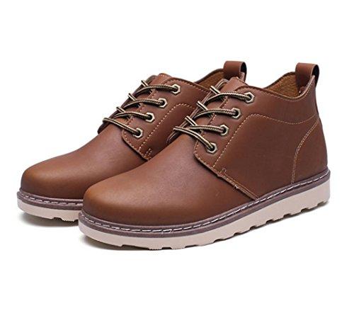 WZGchaussures marée chaussures outillage chaussures en vrac Les nouveaux hommes de mode de style britannique chaussures en cuir chaussures casual hommes d'outillage light brown