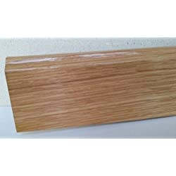 Rodapie 7€/pieza, rechapado de madera natural, ROBLE - 10 unidades