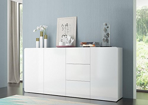 Sideboard Kommode Botero Italian Design hochglanz 200cm weiß
