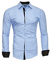Idea Regalo - Kayhan Uomo Camicia, TwoFace LightBlue XL