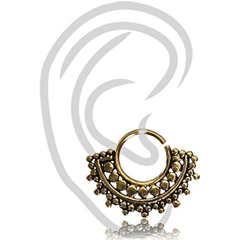 Chic-net Helix Tragus Piercing Brass Golden círculos bolas antiguo 0-8mm la perforación del oído