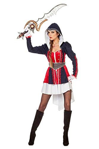 Wilbers 4429 Assassine Kostüm Damen Abenteurer Assassin Damenkostüm (Assassins Creed Kostüm Damen)