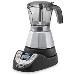 De'Longhi EMKP42.B - Cafetera moka eléctrica, 450 W, 1 L, plástico, negro/plata