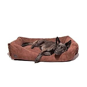 Pets&Partner Hundebett | Hundekissen | Hundekorb |Hunde Bett/Sofa für groß und Klein, Größe L bis XXL, XL Braun