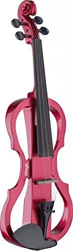 Stagg EVN X-4/4MRD tamaño completo violín eléctrico, color rojo