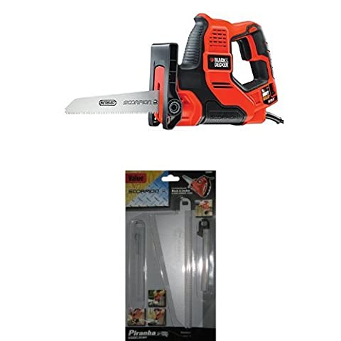Black + Decker RS890K-GB Auto-Select Scorpion-Powered Hand Saw with Kitbox and Value Pack Blades