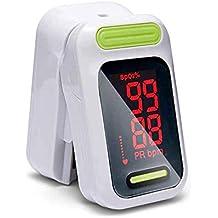 Oxímetro de pulso Hermano portátil pulso oxímetro saturación de oxígeno sanguíneo con pantalla LED medidor de